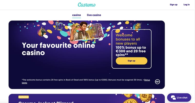 casumo casino online homepage