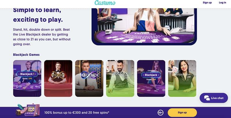 casumo casino online live casino games