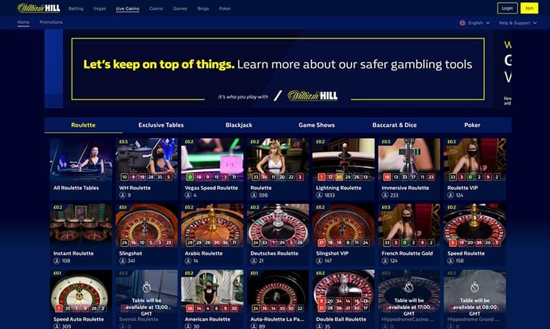 william hill screenshot casino live