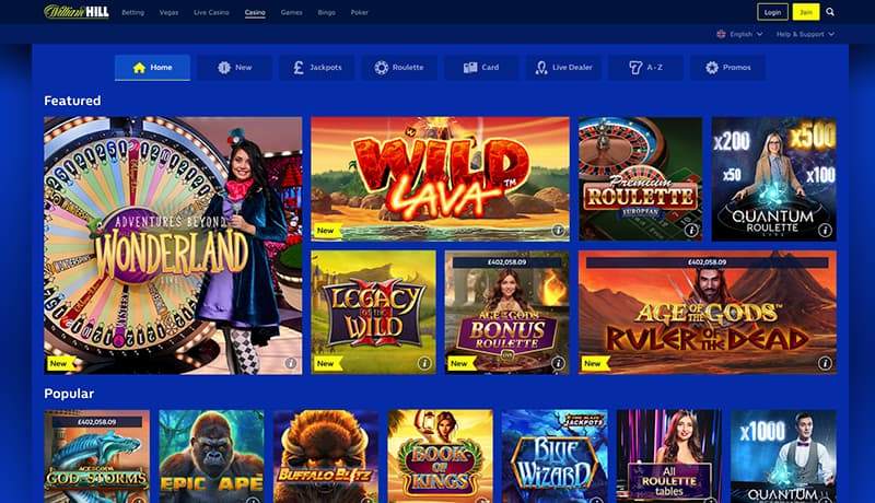 william hill screenshot casino