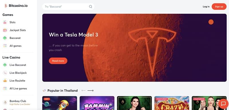 bitcasino.io screenshot interface homepage