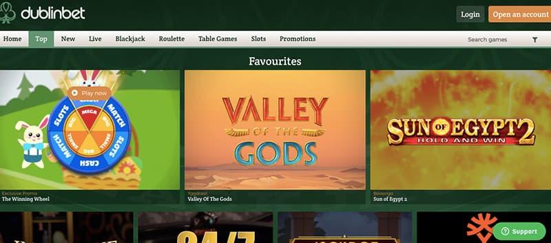dublinbet casino screenshot