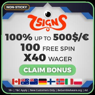 GambleMojo Exclusive Bonus 7signs Casino