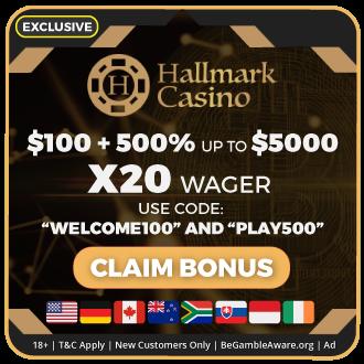 GambleMojo xclusive Bonus Hallmark Casino
