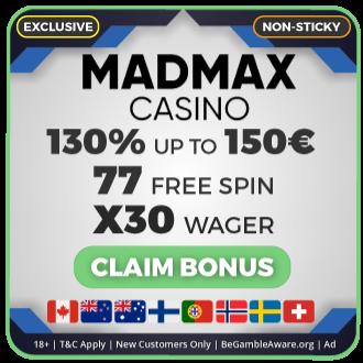 GambleMojo Exclusive Bonus Madmax Casino