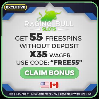 GambleMojo Exclusive Bonus Raging Bull Casino