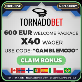 GambleMojo Exclusive Bonus TornadoBet