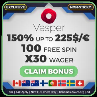 GambleMojo xclusive Bonus Vesper Casino